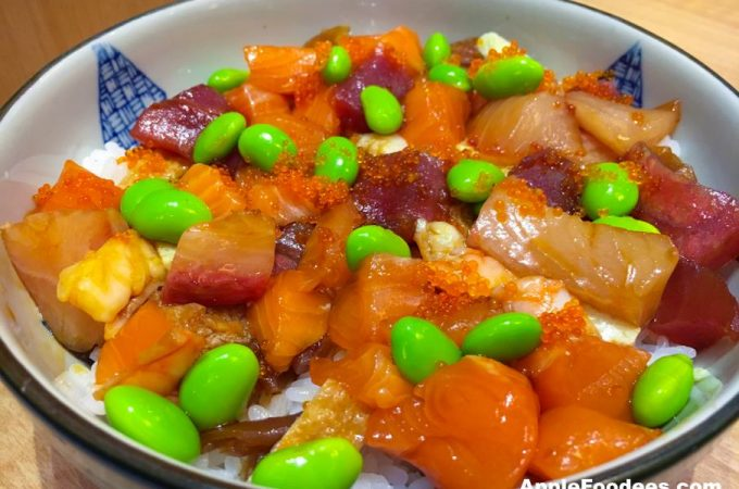 Chirashi Don - Assorted raw seafood on sushi rice