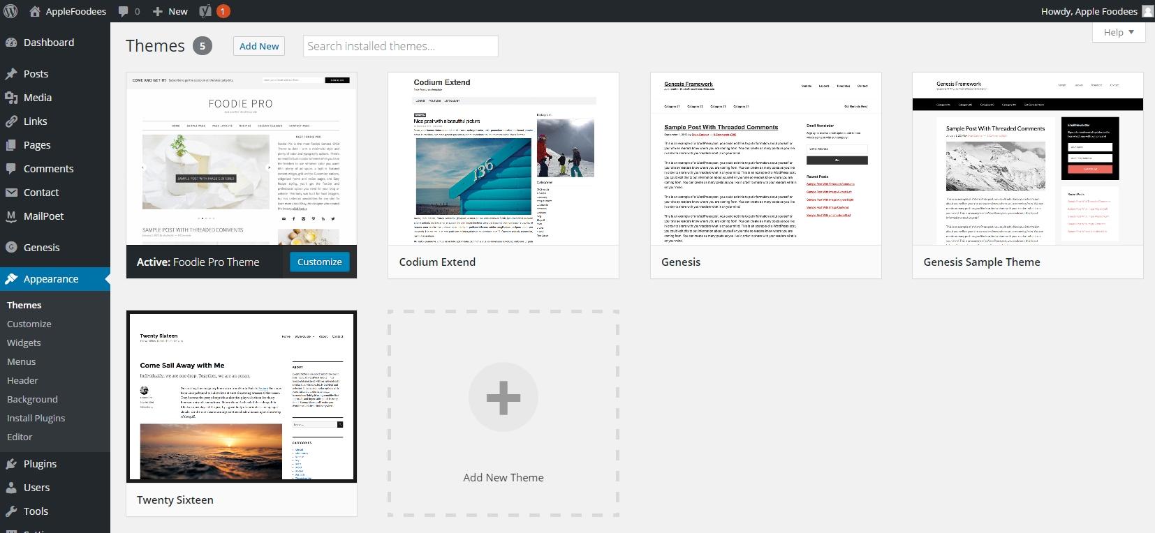 wordpress-theme-admin